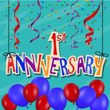 De achtergrond van de verjaardagsviering met confettien en ballon Royalty-vrije Stock Fotografie