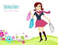 De Achtergrond van de Verkoop van de lente stock illustratie