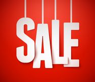 De achtergrond van de verkoop. Vector. royalty-vrije illustratie