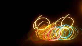 De achtergrond van de verlichtingscirkel Royalty-vrije Stock Foto