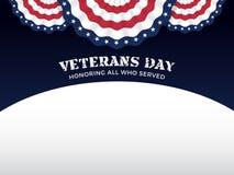 De achtergrond van de veteranendag Stock Afbeeldingen