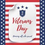 De achtergrond van de veteranendag Stock Afbeelding