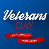 De achtergrond van de veteranendag Het patriottische malplaatje van de V.S. voor Nationale vieringen Vectorillustratie met tekst  Stock Foto's