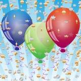 De achtergrond van de viering met ballons Royalty-vrije Stock Afbeeldingen
