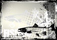 De achtergrond van de visserij grunge stock illustratie