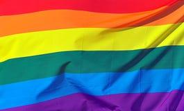 De Achtergrond van de Vlag van de regenboog stock foto