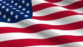 De Achtergrond van de Vlag van Verenigde Staten Stock Afbeelding