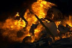 De achtergrond van de vlam Stock Afbeeldingen