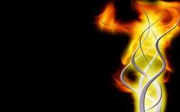 De achtergrond van de vlam Stock Afbeelding