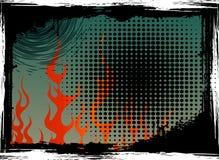 De Achtergrond van de Vlammen van Grunge Royalty-vrije Stock Foto's