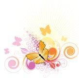 De Achtergrond van de vlinder Royalty-vrije Illustratie