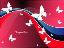 De achtergrond van de vlinder Stock Fotografie