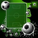 De achtergrond van de voetbal Stock Afbeeldingen