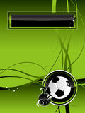 De achtergrond van de voetbal Stock Fotografie