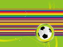 De achtergrond van de voetbal Stock Foto's