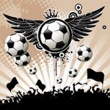 De achtergrond van de voetbal Royalty-vrije Stock Afbeelding