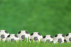 De achtergrond van de Voetbal van de plasticine Stock Afbeelding