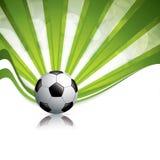 De achtergrond van de voetbalbal Stock Foto's