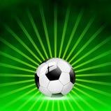 De achtergrond van de voetbalbal Stock Afbeeldingen