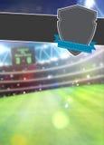 De achtergrond van de voetbalsport Stock Fotografie