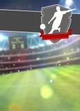 De achtergrond van de voetbalsport Stock Foto