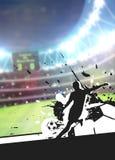 De achtergrond van de voetbalsport Royalty-vrije Stock Afbeeldingen