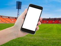 De achtergrond van de voetbalsport Stock Foto's