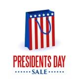 De achtergrond van de voorzittersdag Het patriottische vectormalplaatje van de V.S. met tekst, strepen en sterren in kleuren van  Royalty-vrije Stock Afbeelding