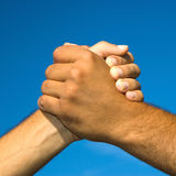 De achtergrond van de vriendschap en van de vrede Stock Foto's