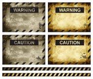De achtergrond van de waarschuwing stock illustratie