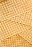 De achtergrond van de wafel Stock Fotografie