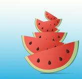 De Achtergrond van de watermeloen Stock Afbeeldingen