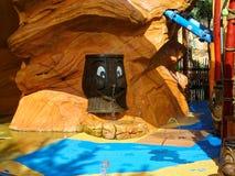 De achtergrond van de waterspeelplaats Stock Fotografie