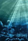 De achtergrond van de waterverf Stock Afbeeldingen
