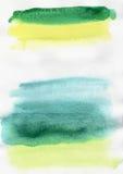 De achtergrond van de waterverf Veelkleurige de Waterverfachtergrond van de wasborstel Veelkleurig w Stock Fotografie
