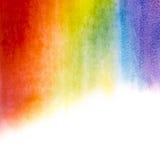 De achtergrond van de waterverfregenboog Stock Fotografie