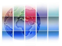 De Achtergrond van de wereld Stock Foto's