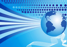 De achtergrond van de wereld, vector Stock Foto's