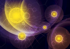 De achtergrond van de wetenschap vector illustratie