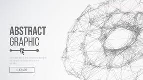 De achtergrond van de wetenschap Verbindend Dots And Lines Abstract Technologie Futuristisch Netwerk Futuristische aardebol Vecto Royalty-vrije Stock Fotografie
