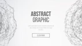 De achtergrond van de wetenschap Verbindend Dots And Lines Abstract Technologie Futuristisch Netwerk Futuristische aardebol Vecto Royalty-vrije Stock Foto's