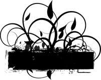 De achtergrond van de Wijnstokken van Grunge stock illustratie