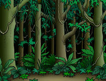 De Achtergrond van de wildernis stock illustratie