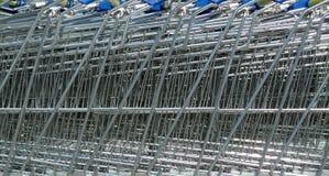 De achtergrond van de winkelen-kar Stock Afbeeldingen