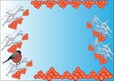 De achtergrond van de winter. Royalty-vrije Stock Afbeeldingen