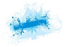 De achtergrond van de winter,   vector illustratie