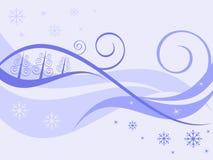 De achtergrond van de winter. Stock Fotografie