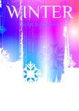 De achtergrond van de winter Abstracte achtergrond in purpere en blauwe tonen Vector Illustratie