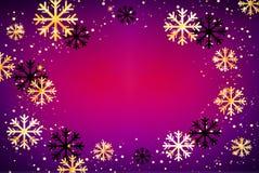 De achtergrond van de winter Abstracte illustratie met sneeuwvlokken Gemakkelijk modern malplaatje Stock Foto's