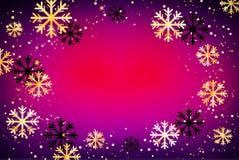 De achtergrond van de winter Abstracte illustratie met sneeuwvlokken Gemakkelijk modern malplaatje Stock Afbeelding